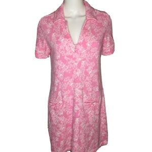 LILLY PULITZER Soft Pink Butterflies Polo Dress